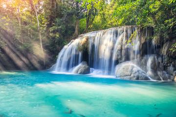 erawan waterfall thailand Fototapete