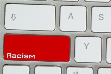 Ein Computer und Rassimus im Internet
