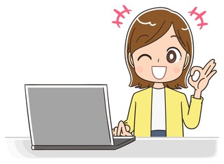 女性 マンガ アニメ 主婦 イラスト かわいい カジュアル