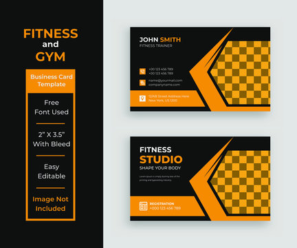 Fitness and gym business card template