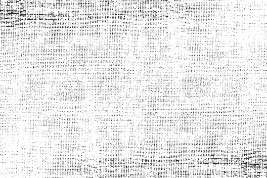 Grunge background of black and white. Abstract illustration texture of cracks, chips, dot. Dirty monochrome pattern of the old worn surface.