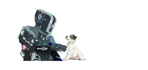 Robot image with a white background