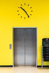 View Of Closed Elevator Door