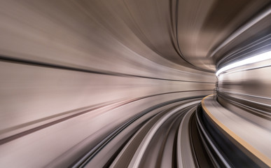 Speeding inside metro tunnel Fototapete
