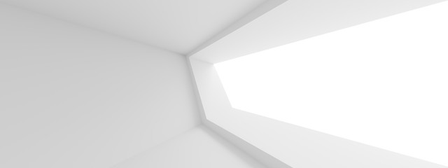 Fotobehang - Abstract Technology Background. Minimal Architecture Design. White Industrial Wallpaper