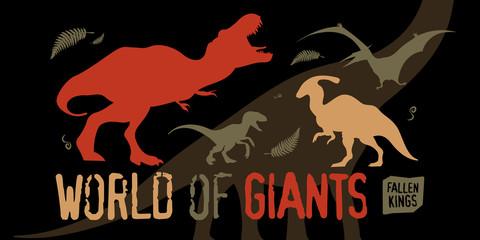 World Of Giants Vector Illustration