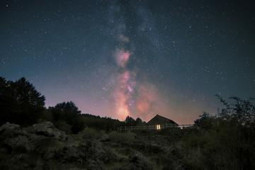 Milky Way On Mountain Refuge