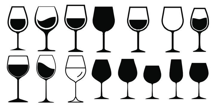 Wine Glass Icon Vector Simple Design symbols