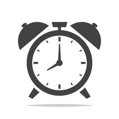 Alarm clock icon vector isolated illustration