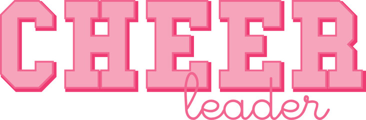 Cheerleaders in Pink Uniforms