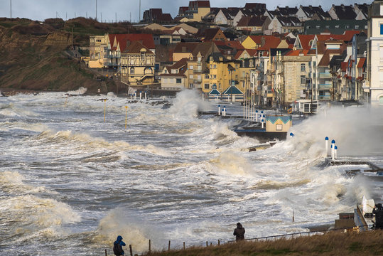 big storm in the north of France