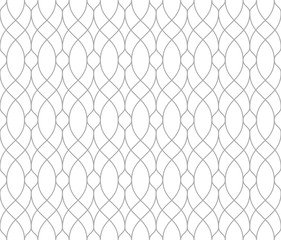 Fotorolgordijn Geometrisch The geometric pattern with wavy lines. Seamless vector background. White and grey texture. Simple lattice graphic design.