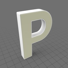 Letters Simple P