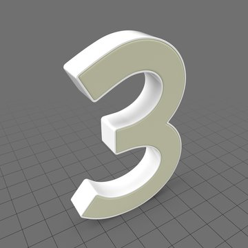 Letters Simple Three