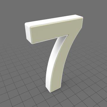 Letters Simple Seven