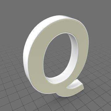 Letters Simple Q