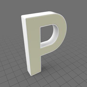 Letters Simple P