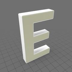 Letters Simple E