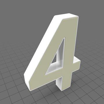 Letters Simple Four