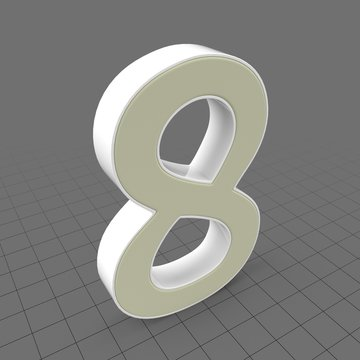 Letters Simple Eight