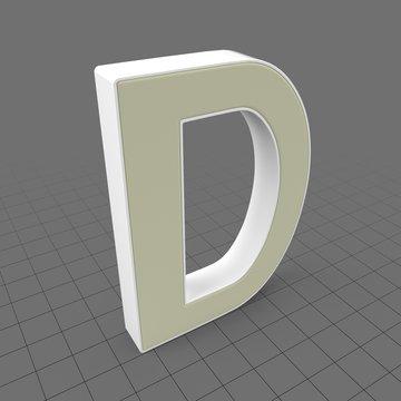 Letters Simple D