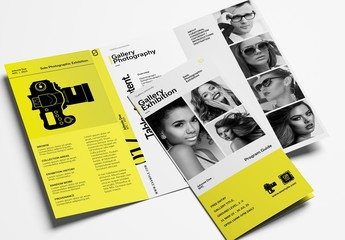 Brochure Layout for Photographers and Photography Exhibitions