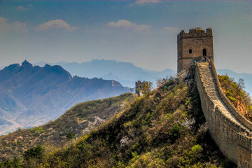 The Great Wall of China. A remote and non touristic part ot the great wall heritage