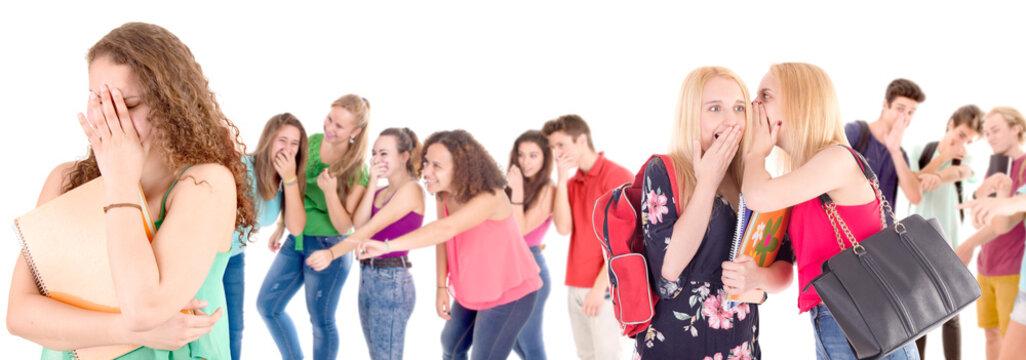 teenagers bullying girl
