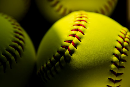 Softball Close up