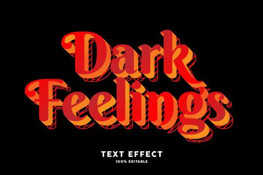 Red dark modern pop art font effect
