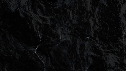 Abstract sea surface aerial view, 3d rendering process, 4k Ultra HD 3840x2160.
