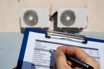 Heating, Ventilation, And Air Conditioning Inspection Fotobehang