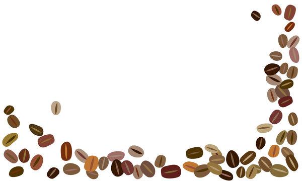 シンプル コーヒー豆背景フレーム
