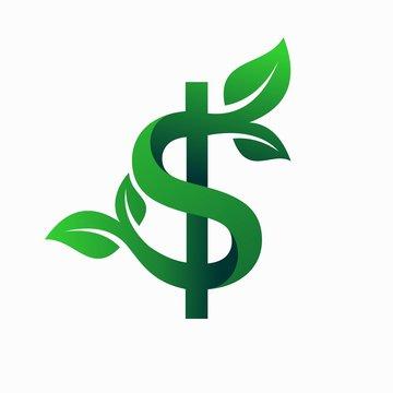 Tree logo that formed money