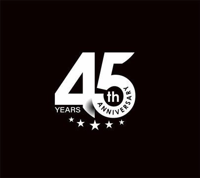 45th Years Anniversary Celebration Design.