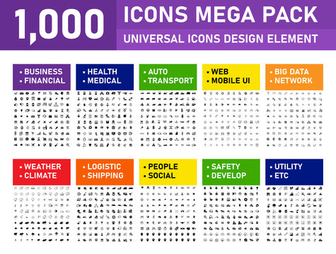 1000 Mega pack Icons