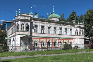 Yekaterinburg, Russia. Mansion of Zaynetdin Agafurov, a merchant from one of the city's most famous merchants families. The house was built in 1893-1896 by design of architect Julius Dutel.
