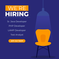 We are hiring software developers, join our team banner