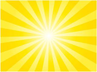 黄色の集中線背景イラスト - fototapety na wymiar