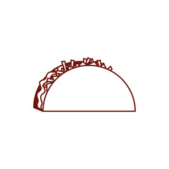 Isolated taco line style icon vector design