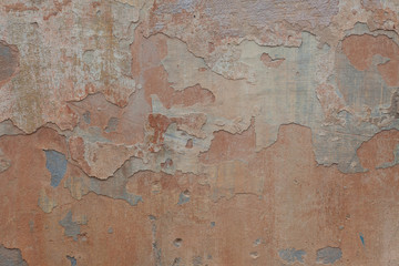 Texture old stucco surface with cracks