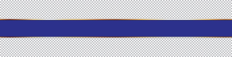 blue ribbon banner on transparent background