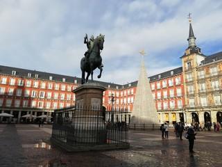 Zelfklevend Fotobehang Centraal Europa plaza mayor in madrid