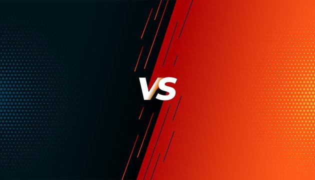 versus vs fight battle screen background design