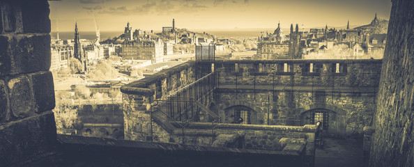 Garden Poster Paris View of Edinburgh from the lower defences at Edinburgh Castle, Scotland