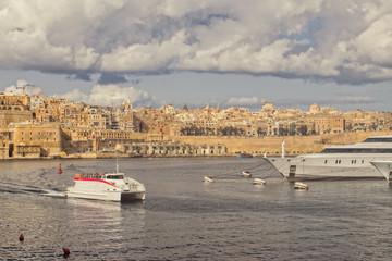 A view of Valletta in Malta from Senglea