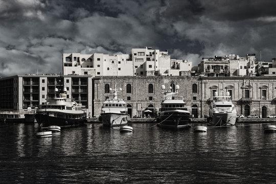 Docks Boats in Malta