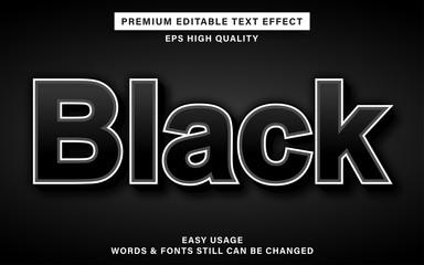 Wall Mural - black text effect