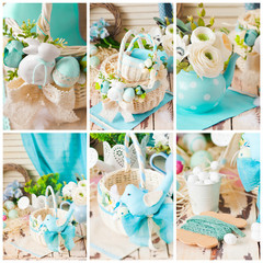 Collection of six Easter themed pictures, collage