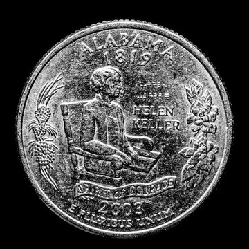This quarter represents Alabama. Alabama is known for its music, southern hospitality, southern food, and space history.